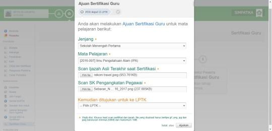 Tampilan Registrasi, verifikasi kab - LPTK PLPG Madrasah 2017_page45_image2