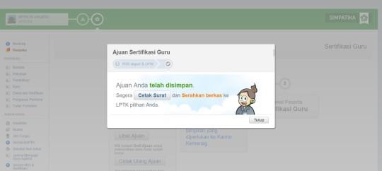 Tampilan Registrasi, verifikasi kab - LPTK PLPG Madrasah 2017_page45_image3